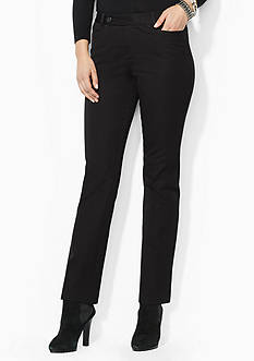 Lauren Ralph Lauren Stretch-Twill Slimming Straight Pant