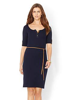 Lauren Ralph Lauren Ribbed Cotton Dress<br>