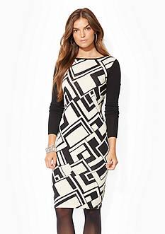 Lauren Ralph Lauren Geo-Print Sweater Dress