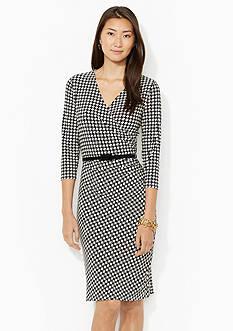Lauren Ralph Lauren Belted Houndstooth Dress<br><br><br>