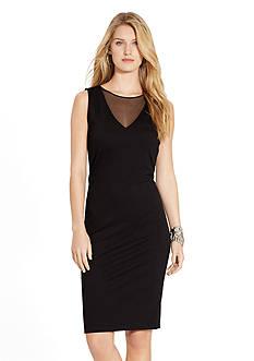 Lauren Ralph Lauren Mesh-Inset Sleeveless Dress