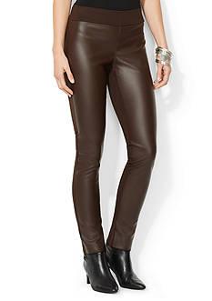 Lauren Ralph Lauren Stretch Faux-Leather Pant
