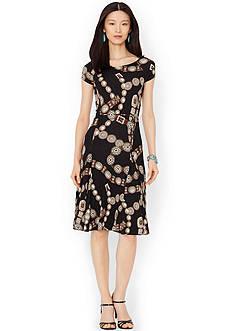 Lauren Ralph Lauren Short-Sleeved Belted Dress