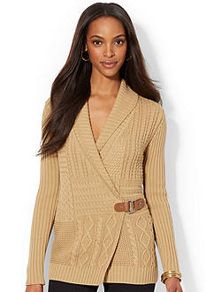 Lauren Ralph Lauren Shawl-Collar Wrap Sweater