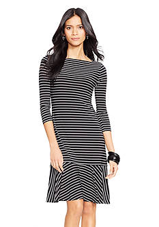 Lauren Ralph Lauren Striped Drop-Waist Dress