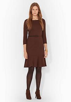 Lauren Ralph Lauren Three-Quarter-Sleeved Dress