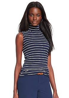 Lauren Ralph Lauren Sleeveless Mockneck Shirt