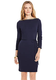 Lauren Ralph Lauren Cotton Boatneck Dress