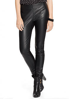 Lauren Ralph Lauren Stretch-Leather Legging