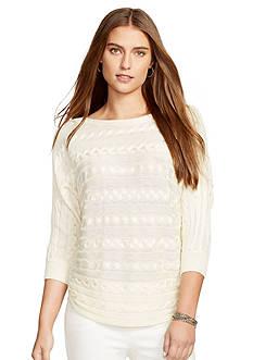 Lauren Ralph Lauren Cable-Knit Dolman Sweater
