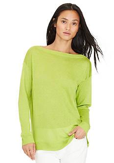 Lauren Ralph Lauren Sheer Linen-Blend Sweater