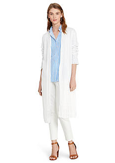 Lauren Ralph Lauren Chevron-Knit Duster