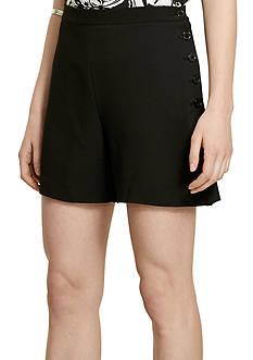 Lauren Ralph Lauren Buttoned-Placket Crepe Short