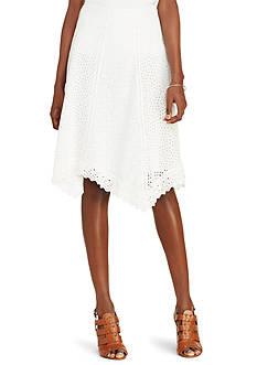 Lauren Ralph Lauren Eyelet Cotton Skirt