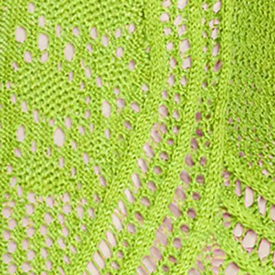 Womens Designer Clothing: Sweaters: New Kiwi Green Lauren Ralph Lauren Pointelle-Knit Cotton Sweater