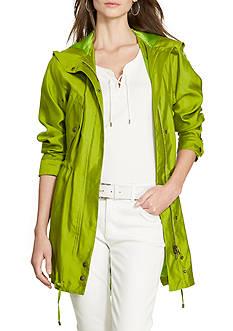 Lauren Ralph Lauren Silk Utility Jacket