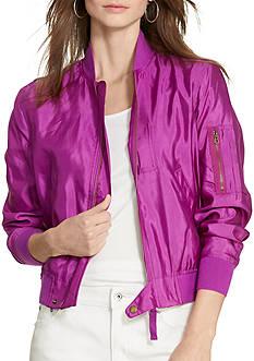 Lauren Ralph Lauren Silk Bomber Jacket