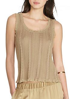 Lauren Ralph Lauren Cable-Knit Cotton-Blend Tank