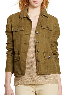 Lauren Ralph Lauren Herringbone Linen Jacket
