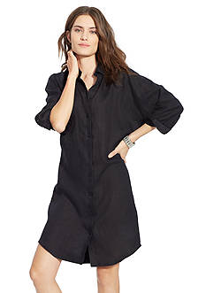Lauren Ralph Lauren Linen Dolman-Sleeve Shirtdress