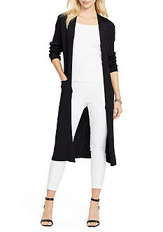 Lauren Ralph Lauren Elongated Rib-Knit Cardigan