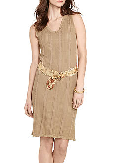 Lauren Ralph Lauren Cable Sleeveless Sweater Dress