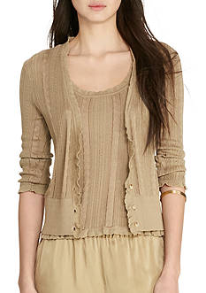 Lauren Ralph Lauren Cable-Pointelle Cardigan
