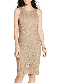 Lauren Ralph Lauren Open-Knit Sweater Dress