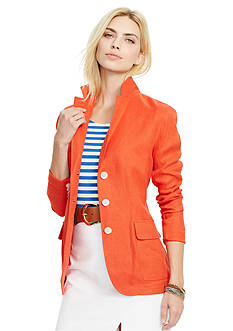 Lauren Ralph Lauren Linen Three-Button Jacket