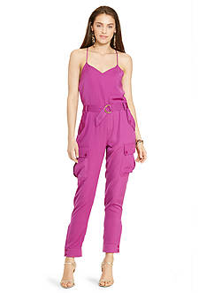 Lauren Ralph Lauren Charmeuse Sleeveless Jumpsuit