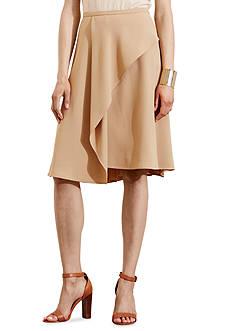 Lauren Ralph Lauren Crepe A-Line Skirt