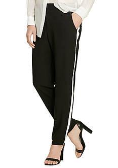 Lauren Ralph Lauren Sueded Crepe Tuxedo Pants