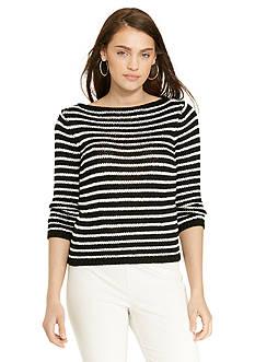 Lauren Ralph Lauren Striped Bateau-Neck Sweater