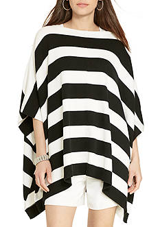 Lauren Ralph Lauren Striped Cotton Poncho
