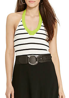 Lauren Ralph Lauren Striped Halter Top