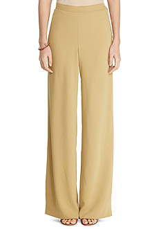 Lauren Ralph Lauren Sueded Crepe Wide-Leg Pants