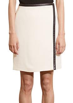 Lauren Ralph Lauren Stretch Crepe Wrap Skirt