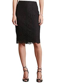 Lauren Ralph Lauren Lace Pencil Skirt