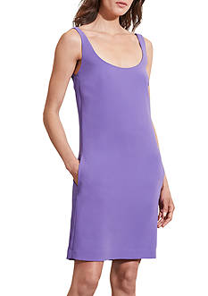 Lauren Ralph Lauren Stretch Crepe Sleeveless Dress