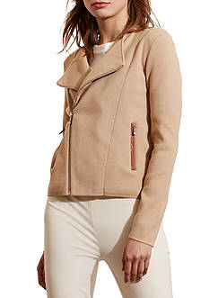 Lauren Ralph Lauren Cotton-Blend Moto Sweater