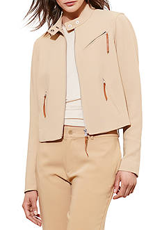 Lauren Ralph Lauren Stretch Crepe Moto Jacket