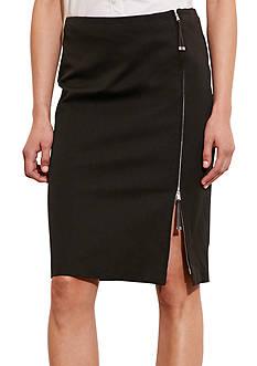 Lauren Ralph Lauren Zip-Front Stretch Cotton Skirt