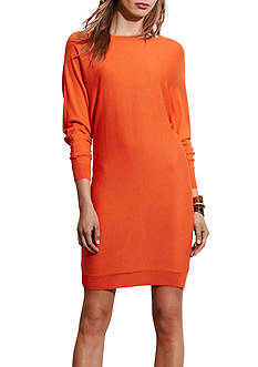 Lauren Ralph Lauren Silk-Blend Dolman-Sleeve Dress