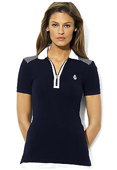 Lauren Ralph Lauren Petite Hanzel Stretch Cotton Polo