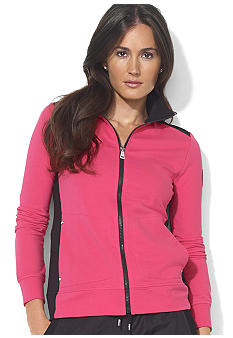 Lauren Ralph Lauren Petite Color-Blocked Mockneck Jacket<br>