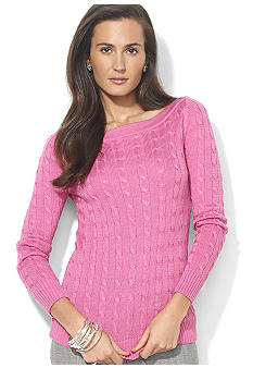 Lauren Ralph Lauren Petite Cable-Knit Boatneck Top