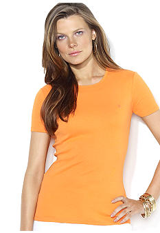 Lauren Ralph Lauren Petite Short-Sleeved Cotton Crewneck Tee