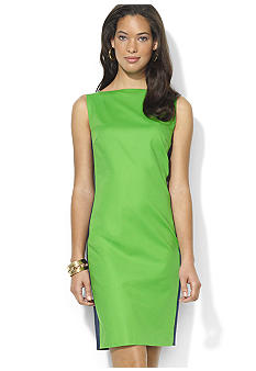 Lauren Ralph Lauren Petite Color-Blocked Boatneck Dress