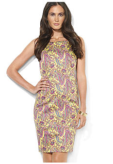 Lauren Ralph Lauren Petite Sleeveless V-Back Dress