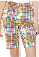 Lauren Ralph Lauren Petite Slim-Fit Plaid Bermuda Short
